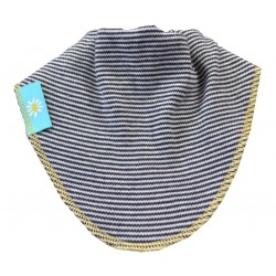 Fine Navy Stripe Dribble Bib