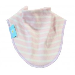 Pink Striped Dribble Bib