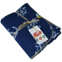 SLIGHT SECOND:- Fleece Blanket:- Anchors Aweigh