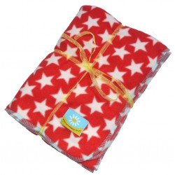 Beautiful Red Star Fleece Blanket:- Red with Stars
