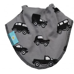 Grey Cars Dribble Bib