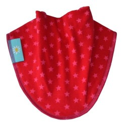 Pink Stars on Red Dribble Bib