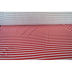 Red and White Stripe Cotton...