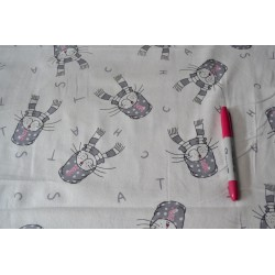 Cats with Scarves Pattern  Brushed Cotton Flannelette