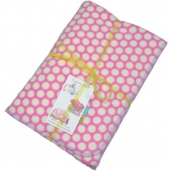 SLIGHT SECOND :-Pink Spotty Microfleece Blanket