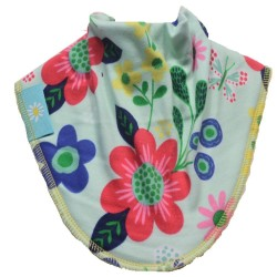 Flowery Cotton Dribble Bib