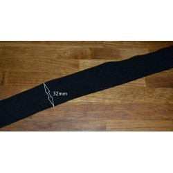5m of Soft black 32mm Wide...